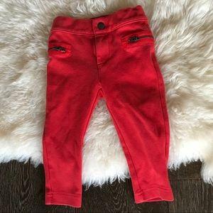 4/$20 Joe Fresh orange/ red pants with zip pockets
